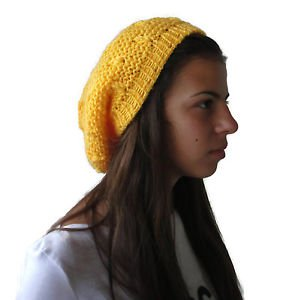Hand knitted Ladies hat / beret type / from soft and gentle acrylic yarn
