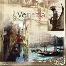 20 pcs Luxury Paper Napkins for Decoupage, Collage, Scrapbooking Venezia Theme