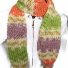 Soft and warm hand knit children's scarf with pompons. Free Shipping!