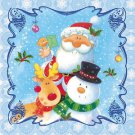 20 Paper Napkins for Decoupage, Collage, Christmas theme with Santa Claus