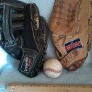 Daddy and me baseball mitt set
