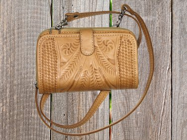 Ropin West Natural Tooled Leather Wallet - RW326