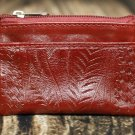Ropin West Red Tooled Leather Coin Purse - RW967