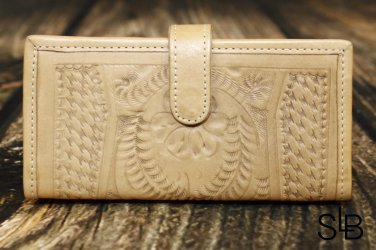 Ropin West Natural Tooled Leather Wallet - RW6206