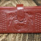 Ropin West Red Tooled Leather Wallet - RW6206
