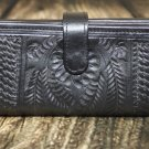 Ropin West Black Tooled Leather Wallet - RW6206