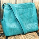 Ropin West Turquoise Tooled Leather Purse - RW978