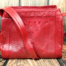 Ropin West Red Tooled Leather Purse - RW978