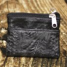 Ropin West Black Tooled Leather Coin Purse - RW8967