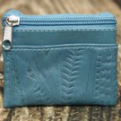 Ropin West Turquoise Tooled Leather Coin Purse - RW8967