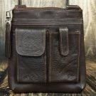 Tooled Leather Concealed Brown Handbag - RW8408