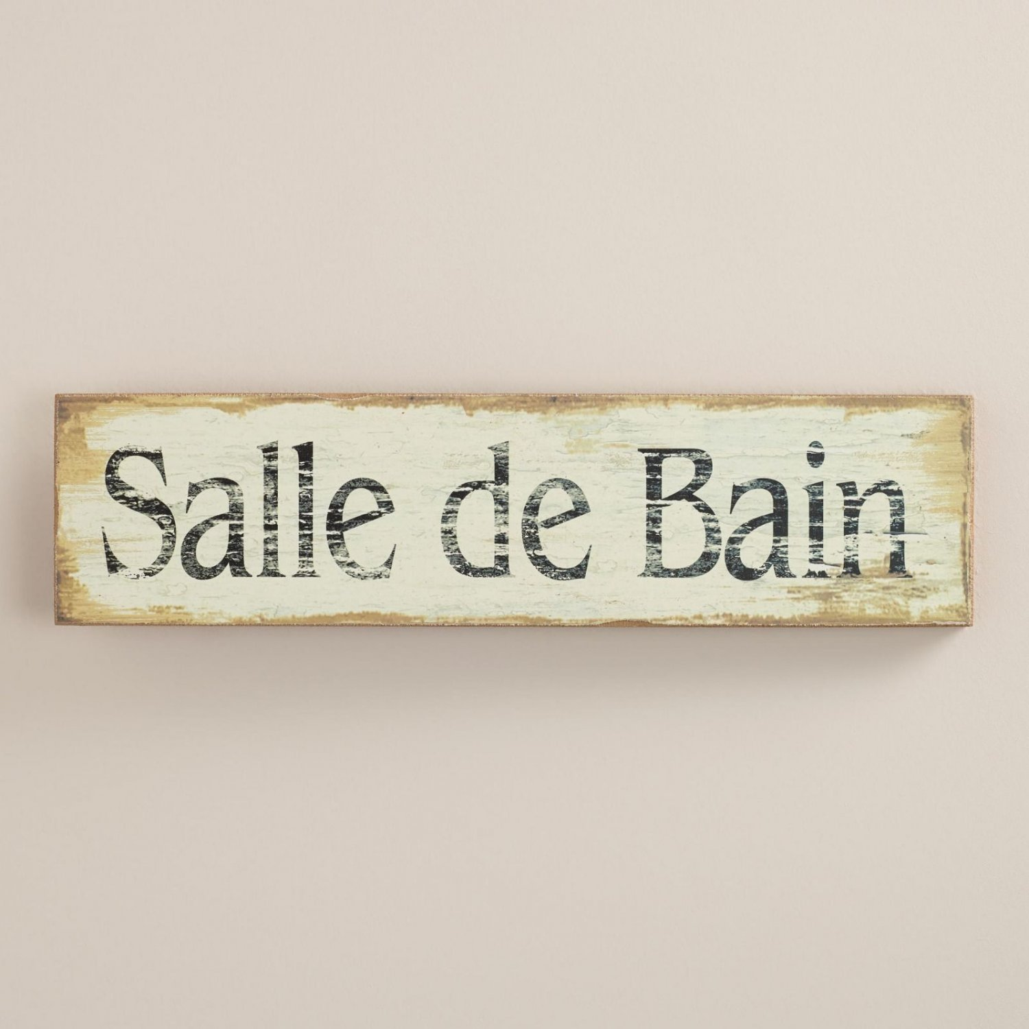 Salle de bain french paris european bathroom sign restroom for Salle de bain door sign