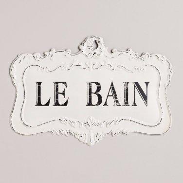 Le Bain Bathroom Sign