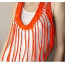 Designs By Amy One Of A Kind Infinity Scarf~Rare Orange Cotton Fabric~Handmade