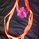 CLassy Cool 1Of A Kind Amys Designs Pink SCARF NECKLACE W/pinkish Purple Flower