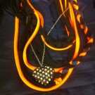 Cool 1 Of A Kind Amys Designs SCARF NECKLACE , Black,orange & Blue. Classy Charm