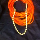 CLassy Cool 1Of A Kind Amys Designs SCARF NECKLACE Orange Beads