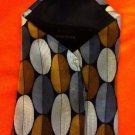 Milano Uomo Neck Tie Gentlemen's Power Tie brown,black Geometric 100% Silk