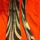 Retro Galo Cossinni Men's Neck Tie  handmade 100% SILK white, black & Gray