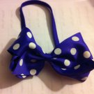 DESIGNS BY AMY GORGEOUS PURPLE POLKA DOT HEADBAND  MADE IN USA