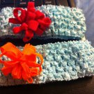 DESIGNS BY AMY BEAUTIFUL BLUE FLOWER HEADBAND. CHOOSE YOUR COLOR