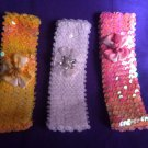 Designs By Amy Classic Sequin Bow. Choose Your Color. Made In Usa