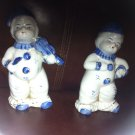 Beautiful 2 ANTIQUE JAPANESE MUSICIAN Statues