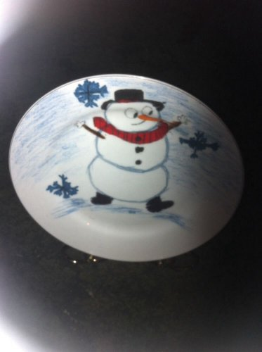 "SNOWMAN plate(s)  Approx 7.5"" Xmas Village,Kid's Collection"