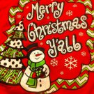 """Southern Inspriational COUTURE womans shirt Red """"Merry Christmas Y'all"""" Small"""