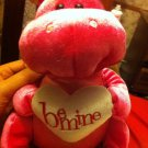 PINK SPARKLY BE MINE VALENTINE SWEETHEART DINOSAUR PLUSH STUFFED ANIMAL TOY