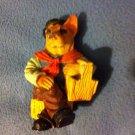 Brown Dog Puppy Music Band Set Miniature Animal Figurines