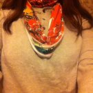 Designs By Amy One Of A Kind Multicolor Infinity Scarf~Cotton Fabric~Handmade