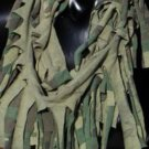 Designs By Amy One Of A Kind Camoflauge Fringe Scarf~Rare Cotton Fabric~Handmade