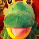 Exclusive Imagine Book Frog Puppet w-Sound green yellow Big Eyes control mouth