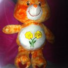 2003 Care Bears Plush FRIEND BEAR Orange Tye Dye Swirl Rare HTF RETRO Flower