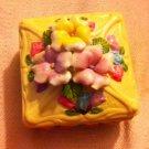 Beautiful 3D Flower Square Shape Trinket Box