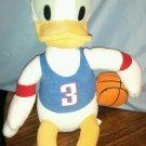 "Disney Sega Plush Donald Duck Basketball Player approx 15"" VGC"