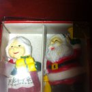 VIntage SET OF Christmas SANTA AND MRS CLAUSE SALT AND PEPPER SHAKERS