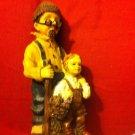 GRANDFATHER and CHILD FIGURINE