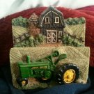 New in box Business Card Holder John Deere Tractor and Barn Each