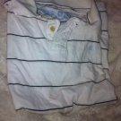 Carbon Men's Medium Short Sleeve Solid white & black Golf Polo Shirt EUC