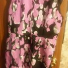 NWOT  ADRIANNA PAPELL woman's  body flounce skirt dress.Size 16.Black/pink