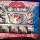 TASTY GOURMET BUTTERFLY PATTERN CHILD'S 13 PIECE MINI PORCELAIN TEA SET