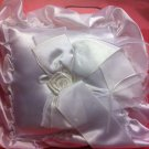 EVERLASTING ELEGANCE RINGBEARER PILLOW SATIN Square SHAPED NEW,WHITE