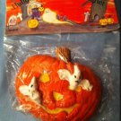 Halloween Poly stone Ghosts Inside  PUMPKIN refrigerator frig MAGNET NIP New