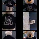 "L S U Tigers ""Plush Bear "" White Bear in LSU sweater"