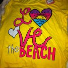 So Girls L 14 Crop Top Shirt New NWT Yellow Coral Pink Kohls