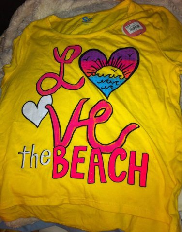 So Girls L 14 Crop Top Shirt New NWT Yellow Coral Pink Kohls