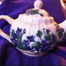Vintage Tea Pot , Purple flowers and vines, Flowers Inc. Balloons