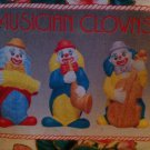 Ceramic Musical Clown Figurines  Set of 3 (Small)